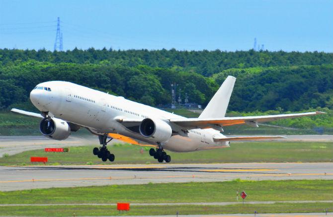 成田空港撮影ポイントによる写真